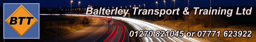 CPC Diver Training Courses in Cheshire by Balterley Transport